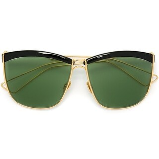 Dior So Electric Women's Sunglasses (Black and Gold Frame/Green Lenses)