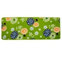 Green Floral Print Kitchen Doormat Floor Mat Area Rug Carpet For Home