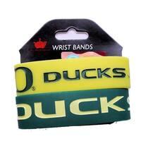 Oregon Ducks Rubber Wrist Band (Set of 2) NCAA