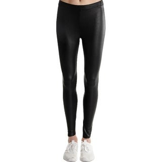 Material Girl Womens Juniors Leggings Faux Leather Pull On - S