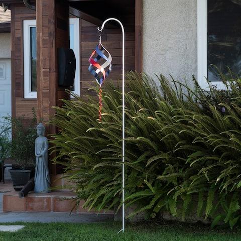 Alpine Corporation Metal Swirl Wind Spinner with Shepherd's Hook