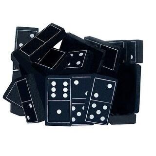 Foam Dominoes Black 28Ct
