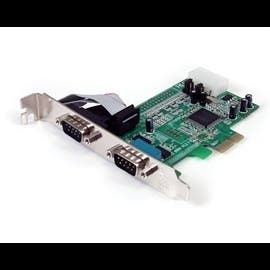 StarTech IO PEX2S553 2 Port Native PCI-Express RS232 Serial Adapter Card with 16550 UART