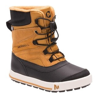 Merrell Boys' Snow Bank 2.0 Waterproof Boot Kid Wheat/Black Leather