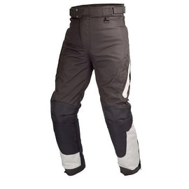 Motorcycle Cordura Waterproof Race OverPants Black with Removable CE Armor PT4