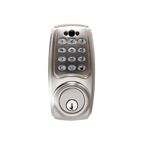 Hickory Hardware HH075774 Single Cylinder Grade 2 Electronic Keyless Entry Deadbolt with Illuminated Keypad