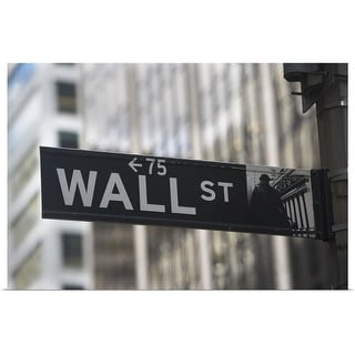 """USA, New York City, Manhattan, Wall Street sign"" Poster Print"