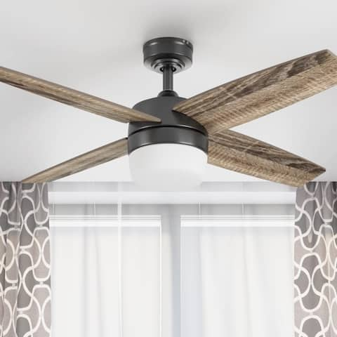 """44"""" Prominence Home Atlas Modern Farmhouse Ceiling Fan with Remote, Espresso"""