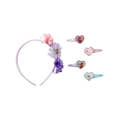 Disney Girls Frozen Hair Accessories Glitter 5PC - o/s