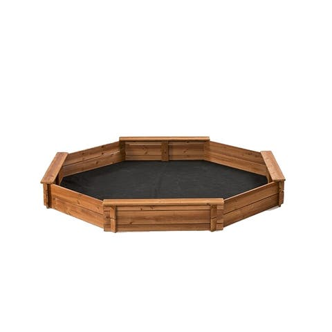 Creative Cedar Designs Octagon Sandbox with Cover