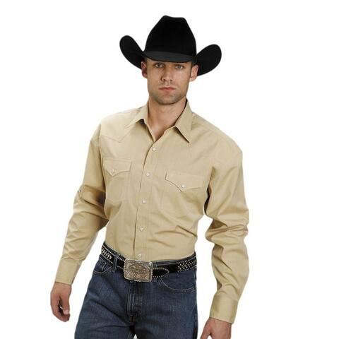 Stetson Western Shirt Mens L/S Matte Snap Gold