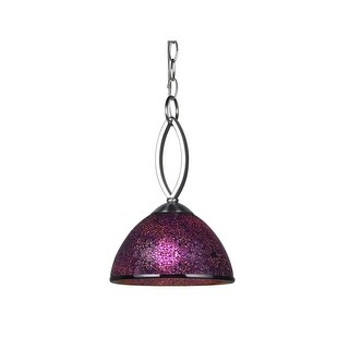 "Woodbridge Lighting 16423-M60 Alexis 1 Light 8"" Wide Single Mini Pendant with Mosaic Glass Dome Shade"