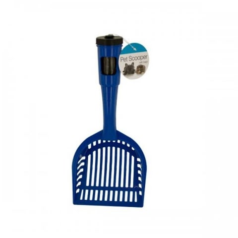 Pet Litter Scooper with Waste Bags in Handle - Black,