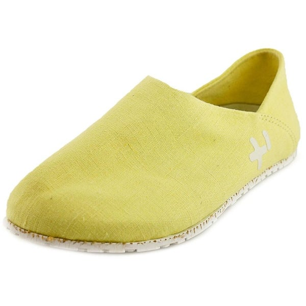 OTZ Shoes 300-GMS Women Round Toe Canvas Yellow Loafer