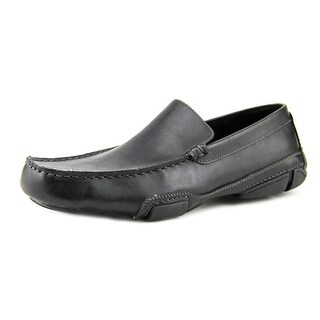 Kenneth Cole Reaction World Hold On Men  Moc Toe Leather Black Loafer