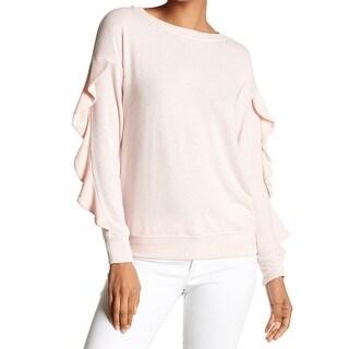 Harlowe & Graham Womens Pullover Ruffled-Sleeve Sweater