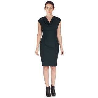Elie Tahari Kyler Wool Sheath Cocktail Day Dress - Green - 8