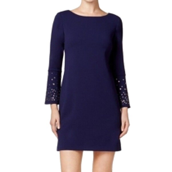 cb85d9a5bf4c Shop Jessica Howard Women's Petite Studded Sheath Dress, Navy, 10P - Free  Shipping On Orders Over $45 - Overstock - 20721742
