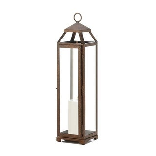 Modern Extra Tall Copper Lantern