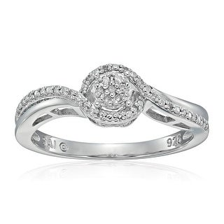 1 10 Ct Diamond Engagement Ring In Sterling Silver
