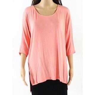 Michael Stars NEW Pink Women Size XS Side-Slit Tunic Scoop-Neck Knit Top