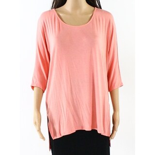 Michael Stars NEW Pink Womens Size Small S Scoop-Neck Slit Knit Top