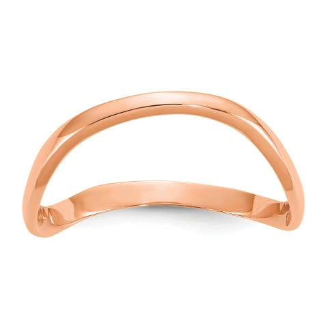 10K Rose Gold High Polished Wave Fashion Thumb Ring by Versil