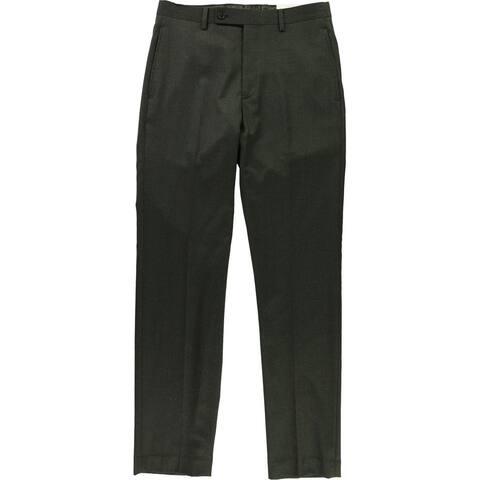 Ralph Lauren Mens Classic-Fit Flannel Dress Pants Slacks, Brown, 30W x 32L