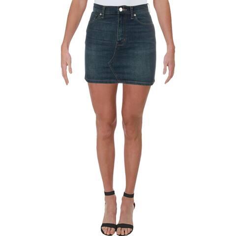We The Free Womens Teagan Mini Skirt Denim Dirt Wash - Sparrow - 24