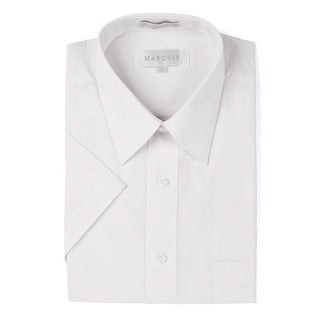 Marquis Men's Short Sleeve Solid Dress Shirt