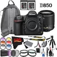 Nikon D850 DSLR Camera (Body Only) 1585 International Model + Nikon AF-S DX NIKKOR 55-200mm f/4-5.6G ED VR II Lens Bundle