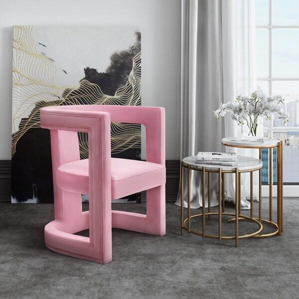 Ada Pink Velvet Chair. Opens flyout.