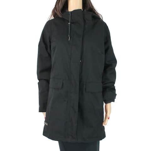 Columbia Women's Down Coat Solid Deep Black Size Medium M Zip Front