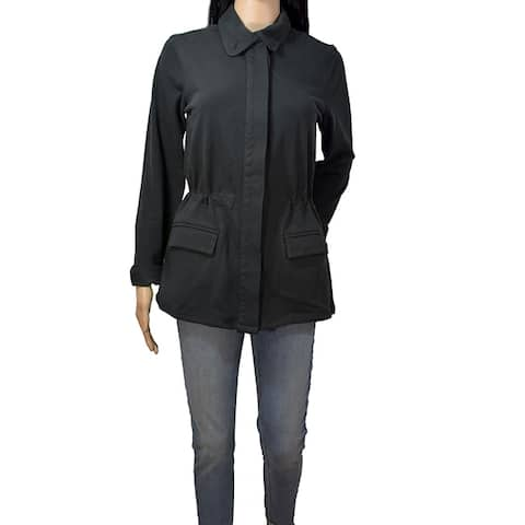 James Perse Black Lightweight Utility Jacket