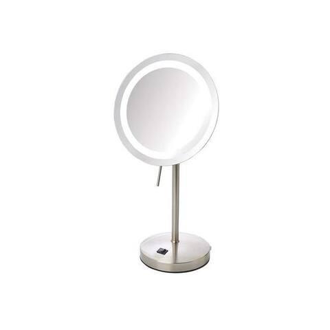 Jerdon jer-jrt950nl 8x led lighted table mirror nickel