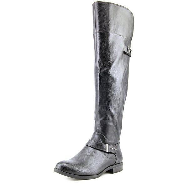 Bar III Deidrel Wide Calf Women Round Toe Synthetic Black Over the Knee Boot
