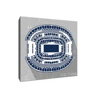 AT&T Stadium Seat Map  - NFL Seat Map - 20x20 Gallery Wrapped Canvas Wall Art