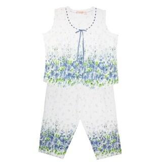 La Cera Women's Cotton Plus Size Floral Pajama Set - Multi