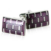 Purple Galvanized Cufflinks