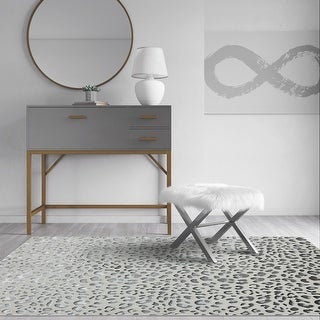 Link to CosmoLiving Natura Collection Snow Leopard Cheetah rug Similar Items in Rugs