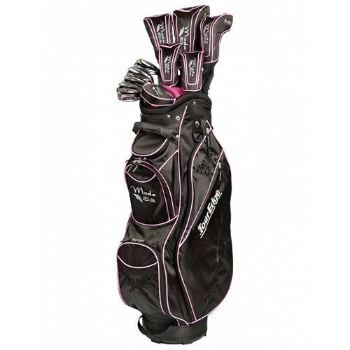 """Tour Edge Moda Silk Golf Kit Black-Hot Pink Golf Kit"""