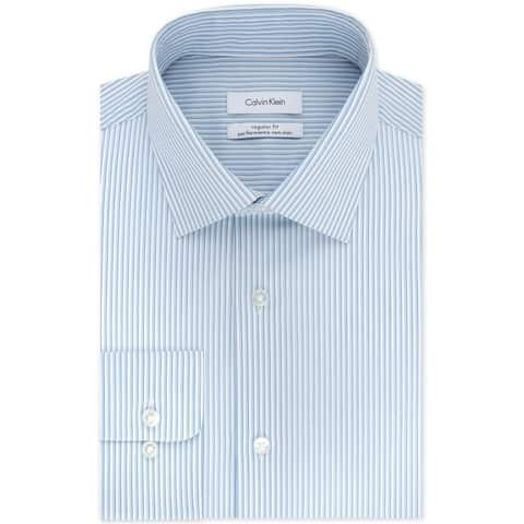 Calvin Klein Mens Stretch Button Up Dress Shirt