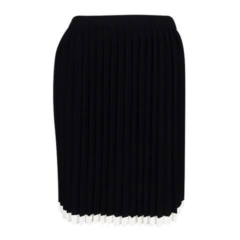 Michael Kors Women's Pleated A-Line Skirt (Black, XS) - Black - XS