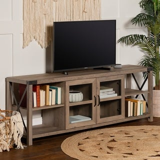 Link to The Gray Barn 70-inch Metal X Accent TV Console Similar Items in TV Consoles