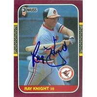 Ray Knight Autographed Baseball Card - Baltimore Orioles 1987