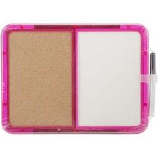 """Half Cork And Half Dry Erase - Memo Board W/Marker 8.25""""x11.25"""""""