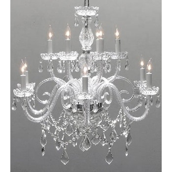 Swarovski Crystal Trimmed Chandelier Lighting