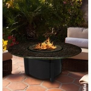 California Outdoor Concepts 5010-BK-PG1-BM-48 Carmel Chat Height Fire Pit-Bla...