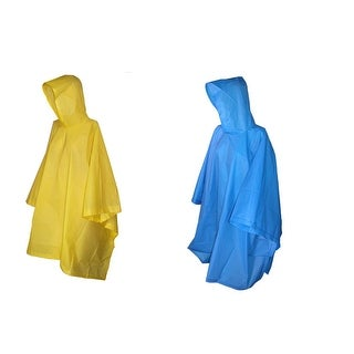 Totes Rain Poncho with Hood (Pack of 2) - One size