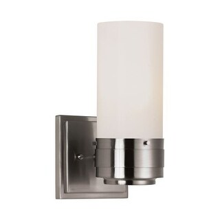 Trans Globe Lighting 2912 1 Light Wall Sconce with Frosted Shade